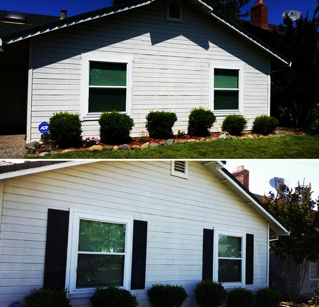 Front of the House - before and after