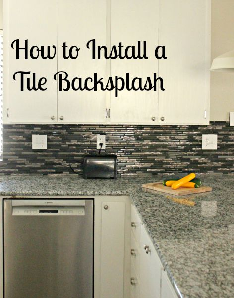 How to install a glass tile backsplash she buys he builds - How to replace backsplash ...