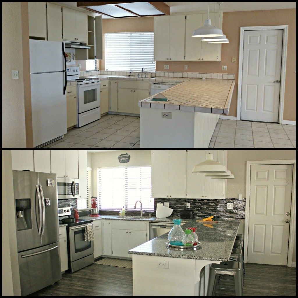 Kitchen Makeovers Before And After: How To Install A Glass Tile Backsplash