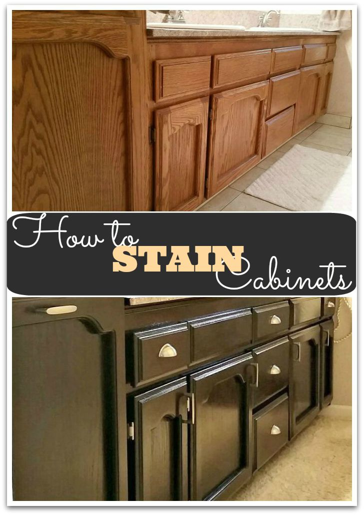 How To Stain Your Kitchen Cabinets