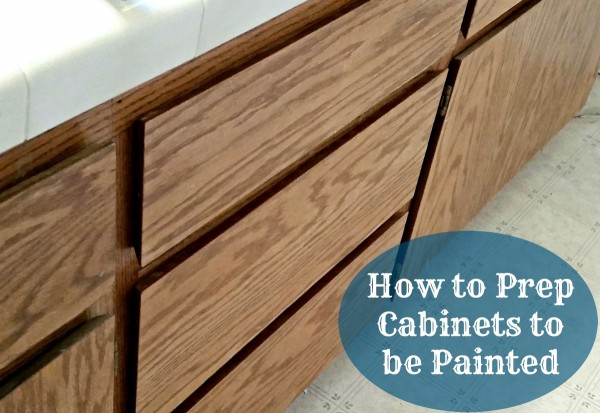 How to Prep Cabinets to be Painted