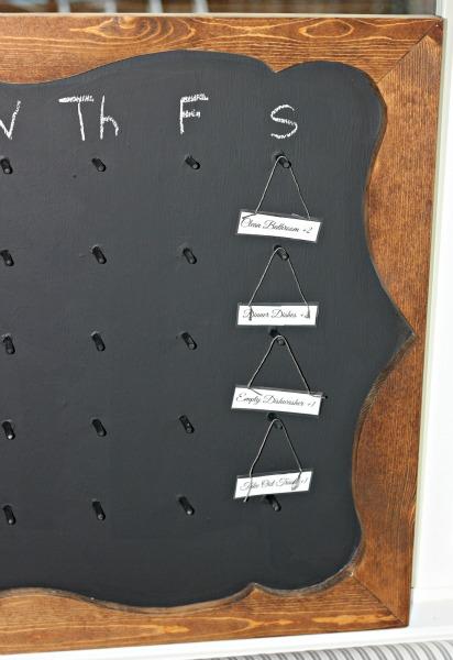 Framed Chalkboard Chore Chart