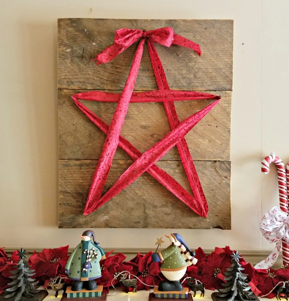 Reclaimed Wood and Ribbon Star