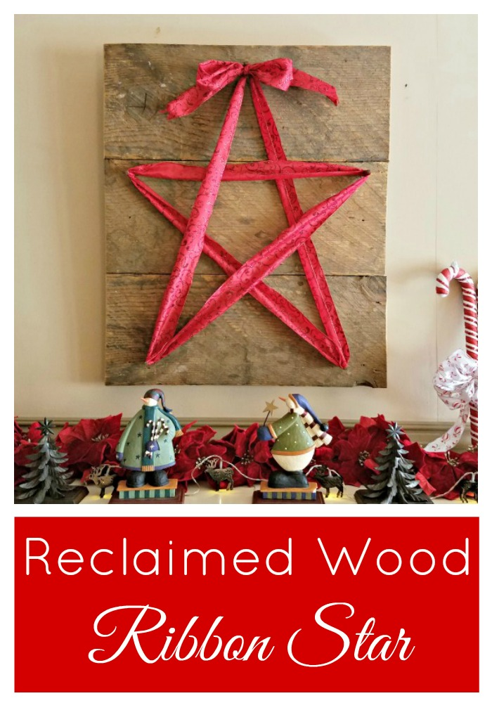 Easy tutorial for a Reclaimed Wood and Ribbon Star
